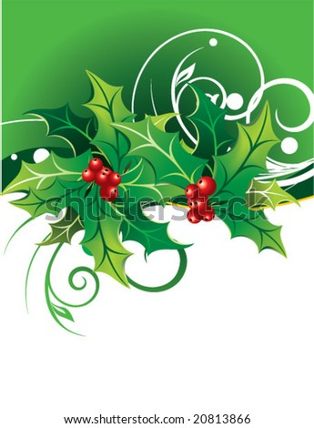 Christmas composition - stock vector