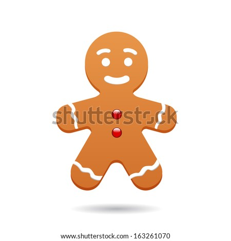 Christmas cookies isolated on white - stock vector