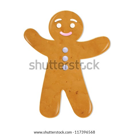 Christmas Cookies, Isolated On White Background, Vector Illustration - stock vector