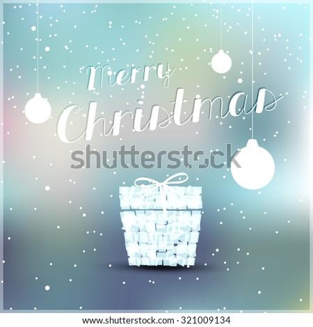 Christmas cover with balls easy editable - stock vector
