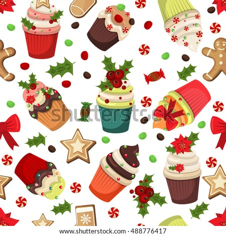 Christmas Muffins Stock Photos, Royalty-Free Images & Vectors ...