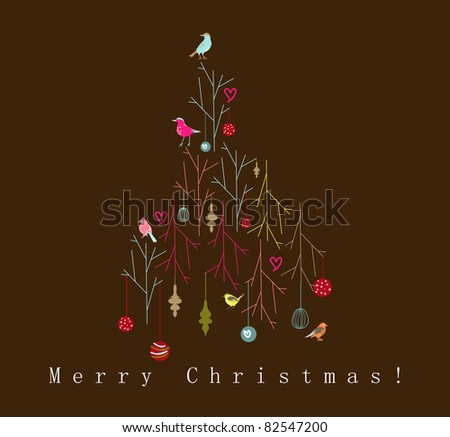 Christmas deco - stock vector