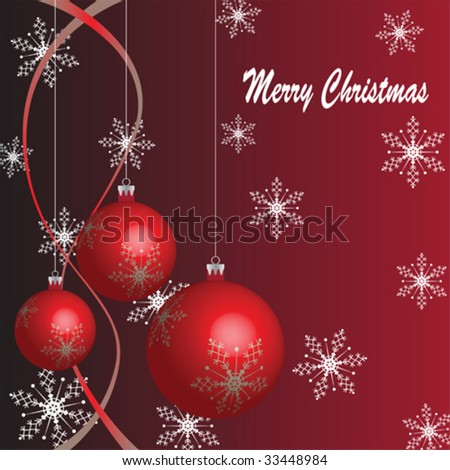 Christmas decoration baubles covered in snowflakes - stock vector