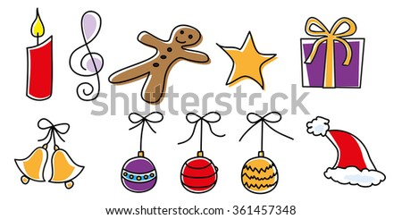 christmas decoration elements - stock vector