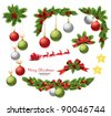 Christmas decoration elements. Vector - stock vector
