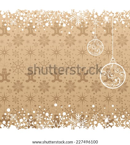 Christmas decoration frame.