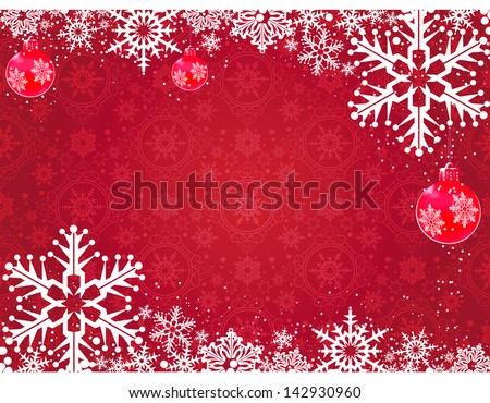 Christmas decoration frame. Abstract Illustration for your design. Christmas decoration. - stock vector