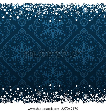 Christmas decoration frame. Snowflake Abstract Background. Christmas borders - stock vector