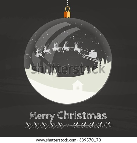 Christmas Decoration - Glass Orb. Vector Illustration - stock vector