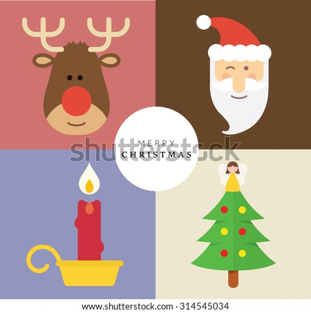 Christmas Decoration Set V - stock vector