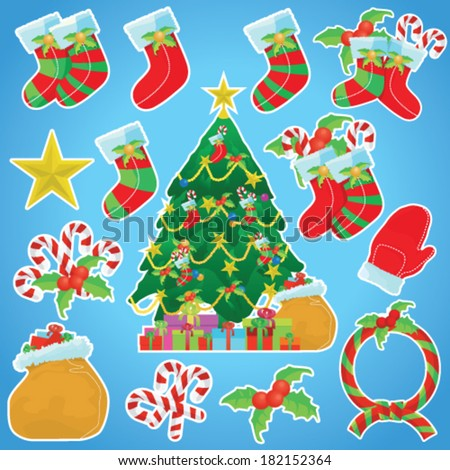 Christmas Decoration Sticker Set