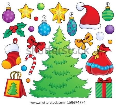 Christmas decoration theme 1 - eps10 vector illustration. - stock vector