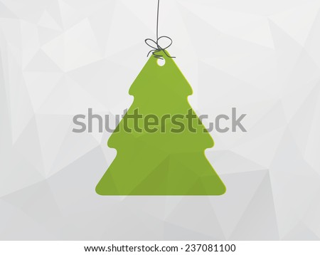 Christmas decoration with tree - stock vector