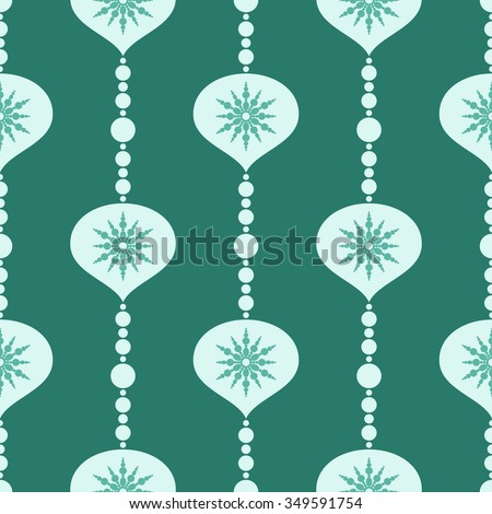 Christmas decorations, balls, seamless pattern - stock vector