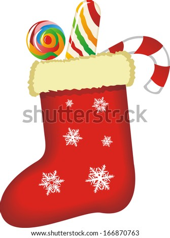 Christmas decorations, Christmas sock vector