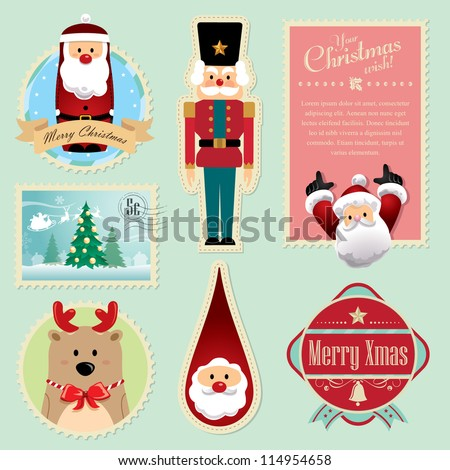 Christmas decorations element 3 - stock vector