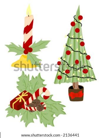 Christmas Decors Vector Stock 2136441