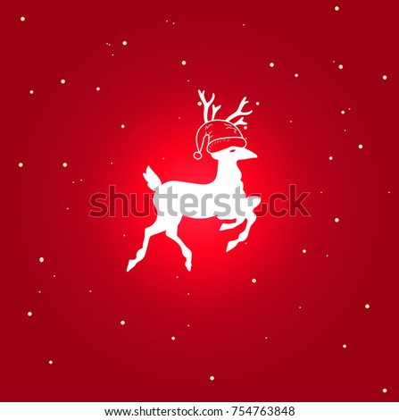 christmas deer icon. isolated symbol