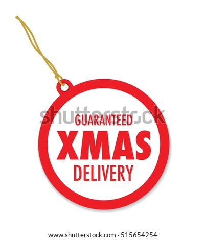 christmas delivery tag label
