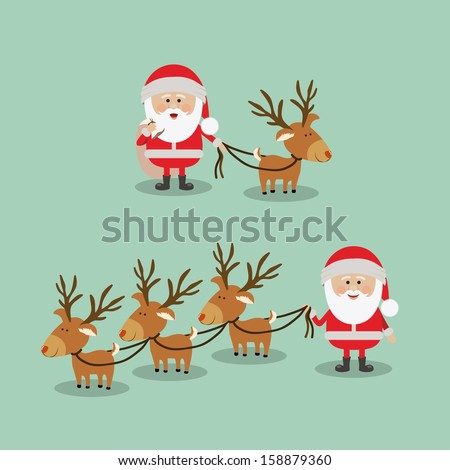christmas design over blue background vector illustration - stock vector