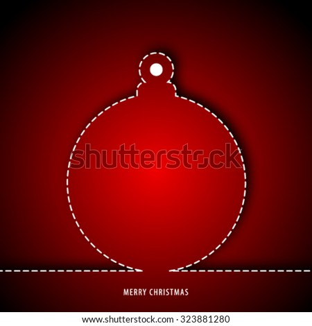 Christmas Design Red Background - stock vector