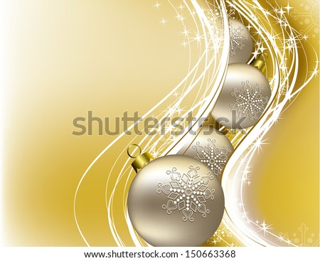 Christmas Design. Vector Background. - stock vector