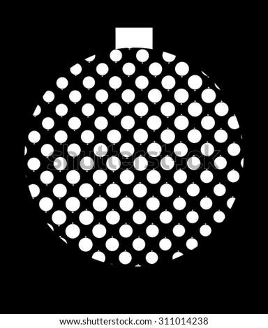 Christmas disco ball - stock vector