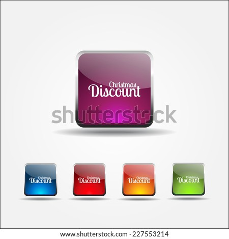 Christmas Discount Colorful Vector Icon Design