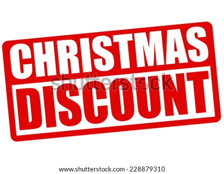 Christmas discount grunge rubber stamp on white background, vector illustration - stock vector