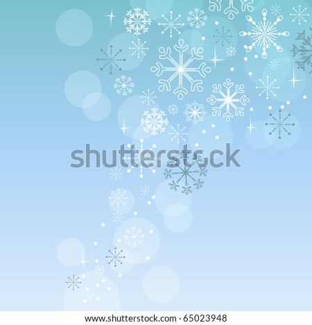 Christmas elegant blue background - stock vector