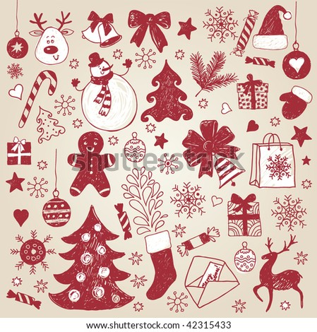 christmas element - stock vector