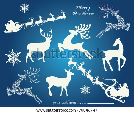 Christmas elements. Vector