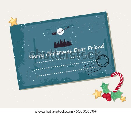 Christmas envelope and decoration