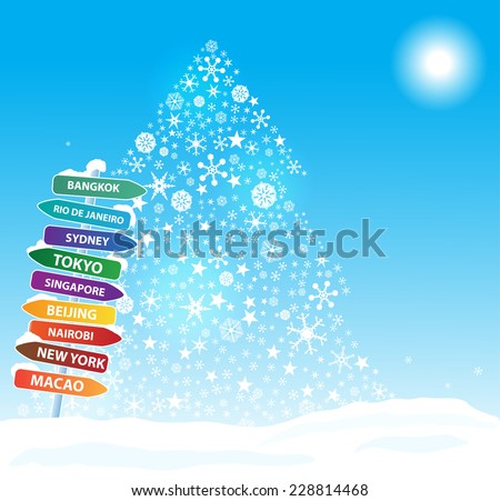 Christmas  exotic trip. Eps10  - stock vector