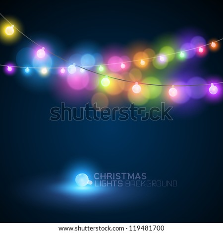 CHristmas fairy lights - vector illustration - stock vector