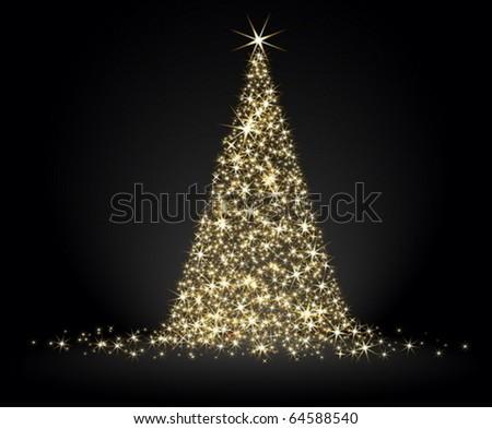 christmas fir background - stock vector