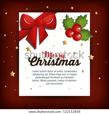 christmas fir decoration card
