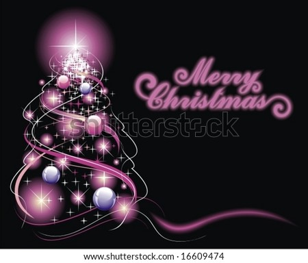 Christmas fir tree - stock vector