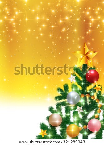 Christmas fir tree background