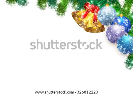 Christmas fir tree bell