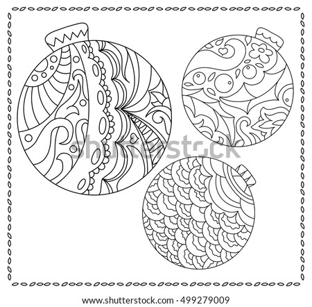 christmas fir tree ornament coloring page adult or teen coloring page with christmas or new
