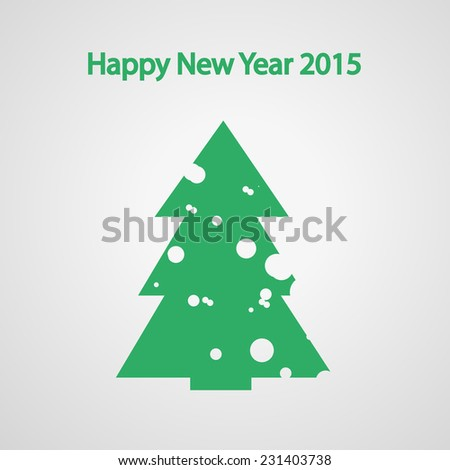 Christmas fir tree with snow, Tree for the new year, vector illustration - stock vector