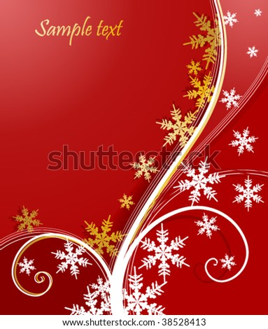 christmas floral background with snowflake