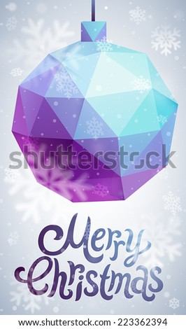 Christmas flyer - geometric stile. - stock vector