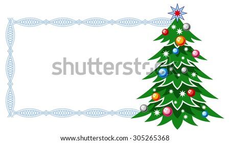 Christmas frame  - stock vector