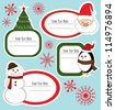 christmas frame set design. vector illustration - stock photo