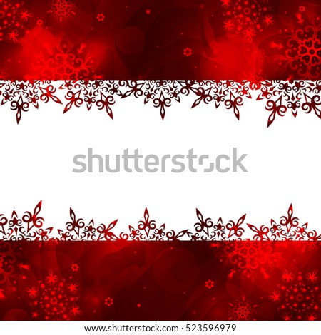 christmas frames with snowflakes winter background - Winter Frames