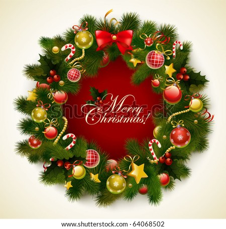 Christmas garland  vector image - stock vector