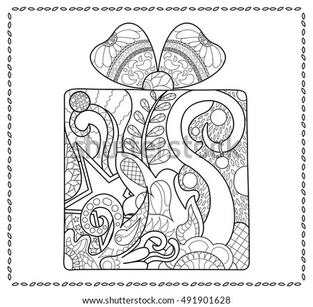 New Coloring Books For Adults : Coloring page outlined bird on nest stock vector 427285087