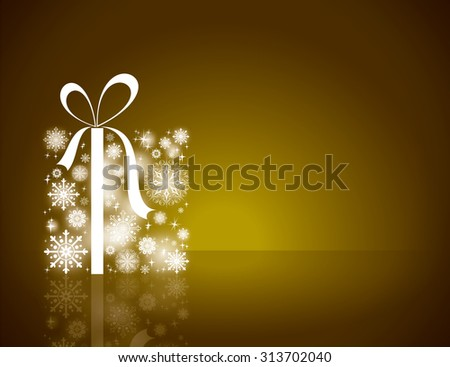 Christmas Gift Background. - stock vector